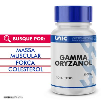 Imagem 1 do produto Gamma oryzanol 300mg - 60 Cápsulas