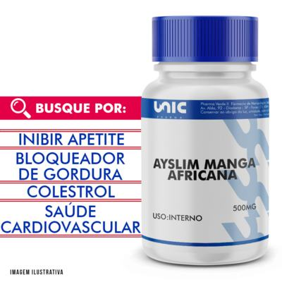 Imagem 1 do produto Ayslim manga africana 500mg - 90 Cápsulas