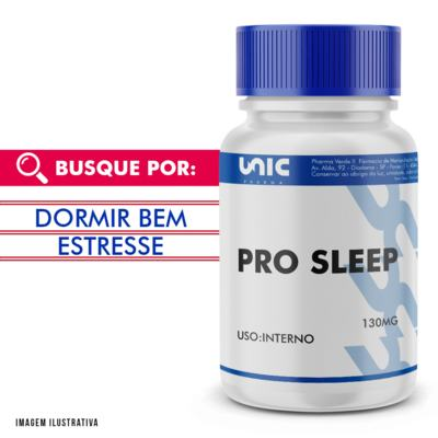 Imagem 1 do produto Pro Sleep 130mg com selo de autenticidade - 120 Cápsulas