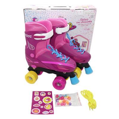 Imagem 1 do produto Patins Sou Luna Roller Skaté 4 Rodas Básico Multikids - BR715 - BR715