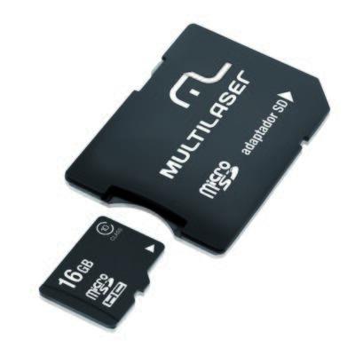 Imagem 1 do produto Adaptador Multilaser SD + Cartao de Memória Classe 10 16GB - MC110 - MC110