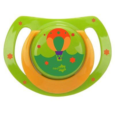 Chupeta Neopan Bico de Silicone Ortodôntica Tamanho 1 Balão Verde Ref 4834