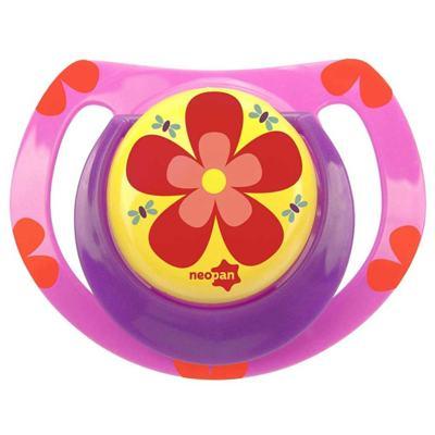 Imagem 1 do produto Chupeta Neopan Bico de Silicone Ortodôntica Tamanho 2 Flor Rosa Ref 4842