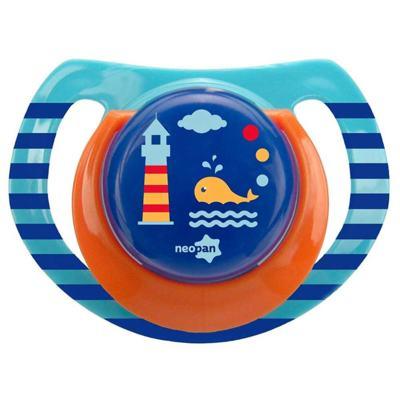 Imagem 1 do produto Chupeta Neopan Bico de Silicone Ortodôntica Tamanho 2 Baleia Azul Ref 4846