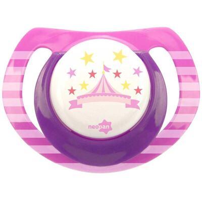 Imagem 1 do produto Chupeta Neopan Bico de Silicone Ortodôntica Tamanho 1 Circo Rosa Ref 4837