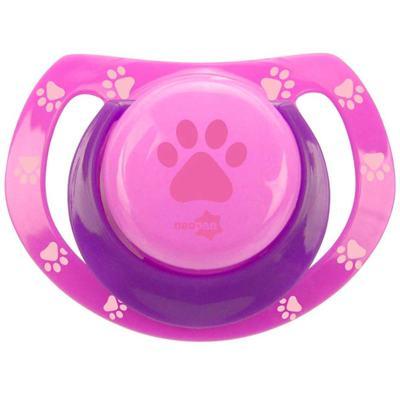 Imagem 1 do produto Chupeta Neopan Bico de Silicone Ortodôntica Tamanho 1 Patinha Rosa Ref 4833