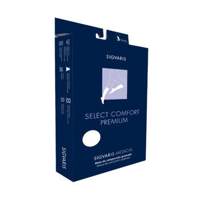 Meia Panturrilha 20-30 Select Comfort Premium Sigvaris - Normal Preto Ponteira Fechada M