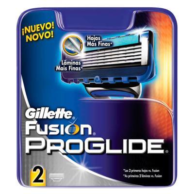 Imagem 1 do produto Gillette Fusion Proglide Recarga Gillette - Cartucho de Recarga - 2 Un