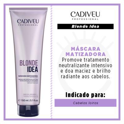 Imagem 2 do produto Cadiveu Blond Idea - Máscara Matizadora - 150ml