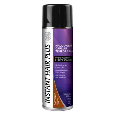 Imagem 1 do produto Maquiagem Capilar Temporária Instant Hair Plus - Castanho Médio