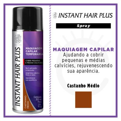 Imagem 4 do produto Maquiagem Capilar Temporária Instant Hair Plus - Castanho Médio