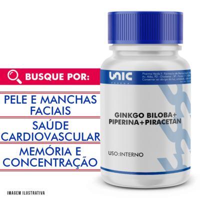 Piperina + Piracetan + Ginkgo Biloba - 120 Cápsulas