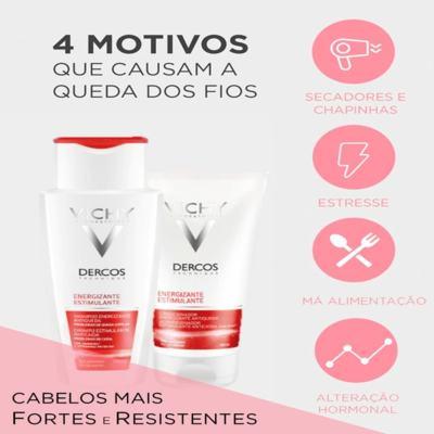 Imagem 6 do produto Dercos Shampoo Energizante Vichy - Shampoo para Enfraquecimento Capilar e Queda - 400ml