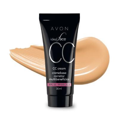 CC Cream Avon Creme Base Corretor Multibenefícios FPS 50 30ml