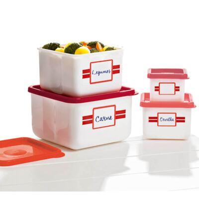 Imagem 1 do produto Kit com 4 Potes Quadrados Innovaware Anote