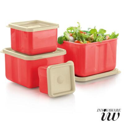 Imagem 1 do produto Kit 4 Potes Innovaware Coral