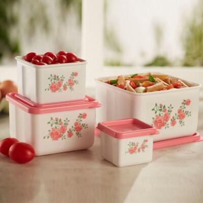 Imagem 1 do produto Kit 4 Potes Innovaware Rosas
