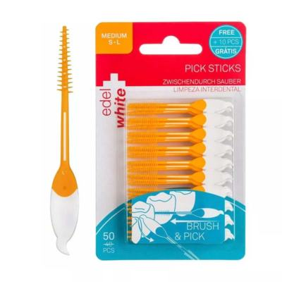 Escova Interdental Edel White Pick Sticks Médio - 50 unidades