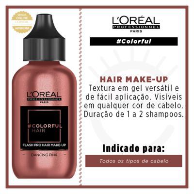 Imagem 3 do produto Maquiagem para Cabelo L'Oréal Professionnel - Colorful Hair FlashPro - Dancing Pink