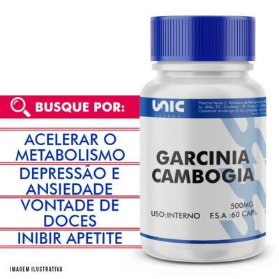 Imagem 1 do produto Garcinia cambogia 500mg - 120 Cápsulas