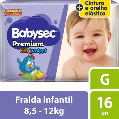 Kit Fralda Babysec Galinha Pintadinha Premium G 128 Unidades