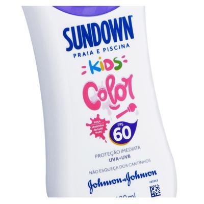 Imagem 3 do produto Protetor Solar Sundown Kids Color Tutti-Frutti FPS60 - 120ml