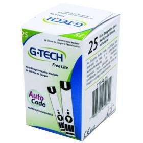 Tiras Reagente Para Glicose G-Tech - Free1   25 unidades