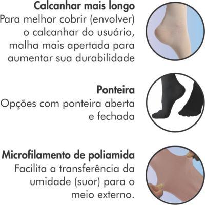 Imagem 4 do produto Meia 3/4 Panturrilha 862 Premium 20-30 Mmhg Ponteira Aberta Sigvaris - Meia 3/4 Panturrilha 862 Premium 20-30 Mmhg Ponteira Aberta Sigvaris Pequena Longa Natural Escuro