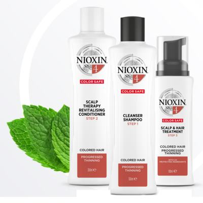 Imagem 6 do produto Kit Nioxin System 4 Shampoo 300ml + Condionador 300ml + Leave-in 100ml -