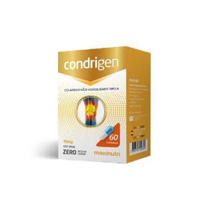 Condrigen Colágeno Tipo II 40mg 60cps Maxinutri