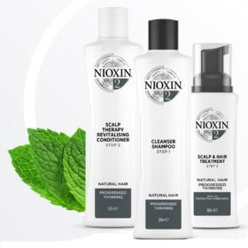 Kit Nioxin System 2 Shampoo 300ml + Condicionador 300ml + Leave-in 100ml