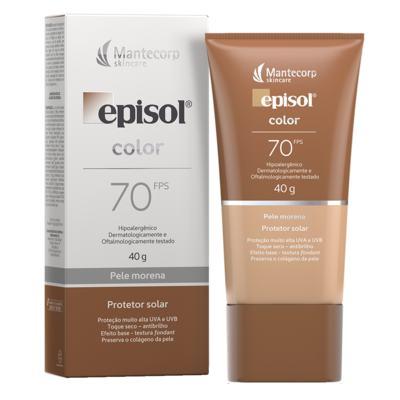 Protetor Solar Facial Episol Color FPS70 - Pele Morena | 40g