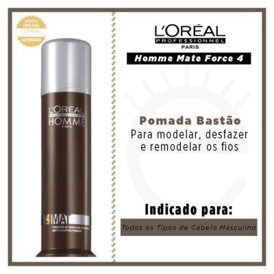 Imagem 4 do produto L'Oréal Professionnel Homme Mate Force 4 - Pomada Bastão - 80ml