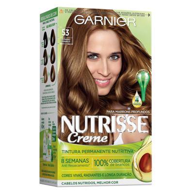 Coloração Garnier Nutrisse Creme - 53 Castanho Claro Dourado   1 unidade