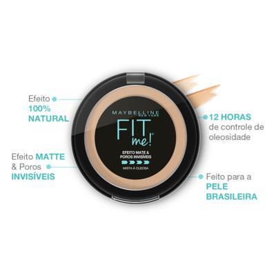 Imagem 4 do produto Pó Compacto Maybelline - Fit Me! - R05 Médio Rosado