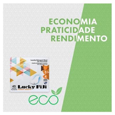 Imagem 2 do produto Detergente Lava Roupa em Folha - Lucky Fiji - 45 Un