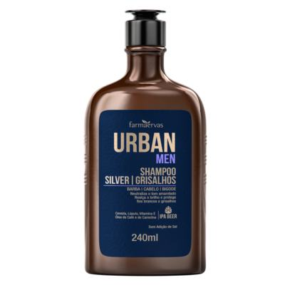 Urban Men Silver Shampoo - Grisalhos Barba e Cabelo | 240ml