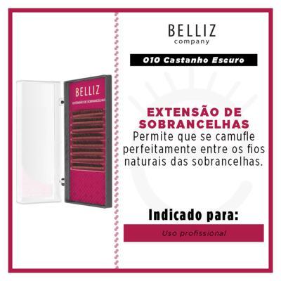 Imagem 3 do produto Cílios para Alongamento de Sombrancelha Belliz -  010 Castanho Escuro - 1 Un