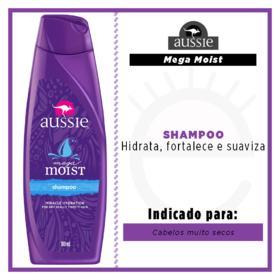 Shampoo Aussie - Mega Moist | 180ml