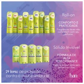 Desodorante Roll-on Ban - Regular - 103ml