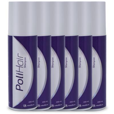 Imagem 1 do produto Polihair Shampoo Premium 200ml - 06 Unidades - NatuFibras -