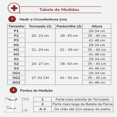 Imagem 5 do produto Meia Panturrilha 20-30 Comfort Premium Sigvaris - Curta Natural Ponteira Aberta G