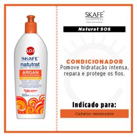 Skafe Naturat SOS Brilho Milagroso - Condicionador Argan e Macadâmia