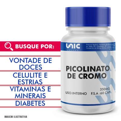 Imagem 1 do produto Picolinato de cromo 350mcg 60 Caps