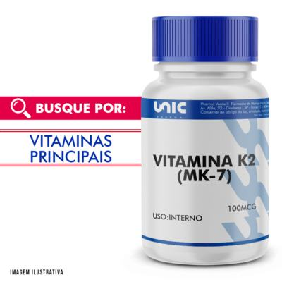 Imagem 1 do produto Vitamina k2 100mcg - 120 Cápsulas