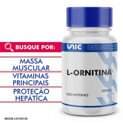 Imagem 1 do produto L-ornitina 300mg - 120 Cápsulas