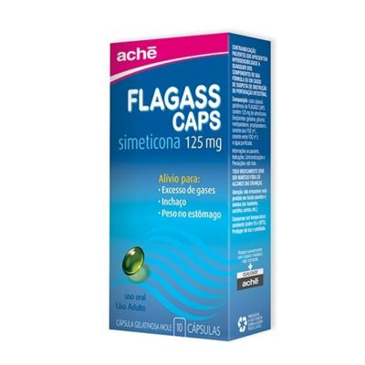 Flagass - 125mg | 30 cápsulas gelatinosas moles