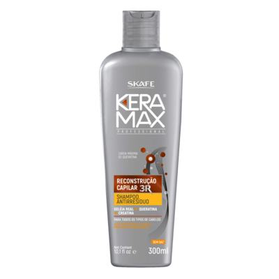 Shampoo Antirresíduos Keramax Reconstrução Capilar 3R Skafe
