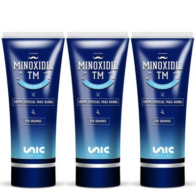 Imagem 2 do produto Kit 3 Minoxidil 5% Para Barba TM 120g