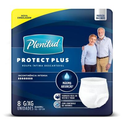 Roupa Íntima Plenitud - Protect Plus G/XG | 8 unidades